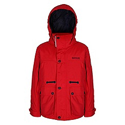 Regatta - Boys Red starship waterproof jacket