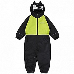 Regatta - Kids Black 'Mudplay' waterproof suit