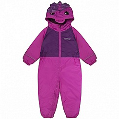 Regatta - Kids Pink 'Mudplay' waterproof suit