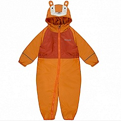 Regatta - Kids Orange 'Mudplay' waterproof suit