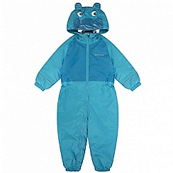 Regatta - Kids Blue 'Mudplay' waterproof suit