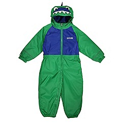 Regatta - Boys Green croc kids mudplay waterproof onsie