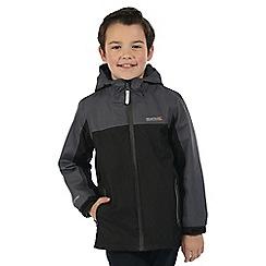 Regatta - Boys Black Luca 3 in 1 waterproof jacket