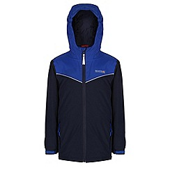 Regatta - Boys Navy/ bright blue obie waterproof jacket