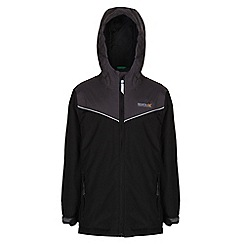 Regatta - Boys Black/ iron obie waterproof jacket