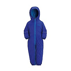 Regatta - Boys Surf blue splosh waterproof onesie
