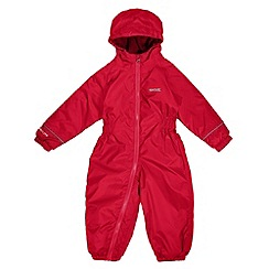Regatta - Boys Red splosh waterproof onesie