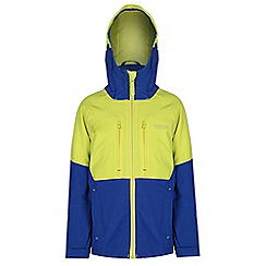 Regatta - Boys Blue/ yellow mercia waterproof jacket