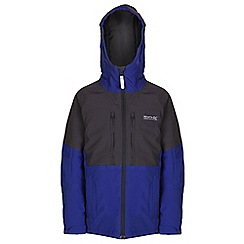 Regatta - Girls Blue/ grey mercia waterproof jacket