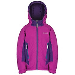 Regatta - Kids Purple Aptitude waterproof jacket
