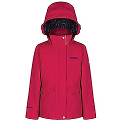 Regatta - Kids Pink Spinney waterproof jacket
