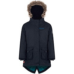 Regatta - Girls Navy Totteridge waterproof parka