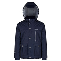Regatta - Boys Navy Sheriff waterproof jacket