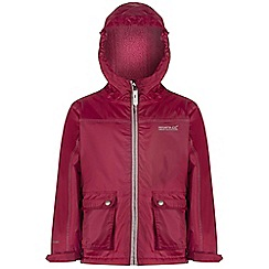 Regatta - Kids Pink Malham waterproof jacket