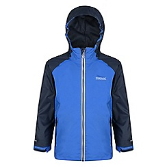 Regatta - Kids Blue 'Luca' 3-in-1 waterproof jacket