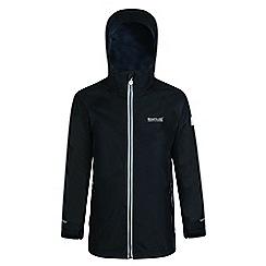 Regatta - Kids Black 'Luca' 3-in-1 waterproof jacket