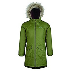 Regatta - Kids Green 'Hollybank' parka jacket