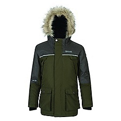 Regatta - Kids Green 'Paxton' waterproof parka