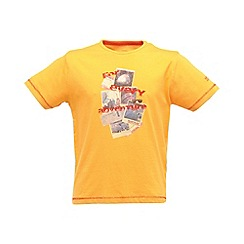 Regatta - Old gold bugle boys tshirt