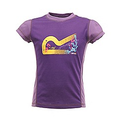 Regatta - Alpinepurple girls logo t shirt