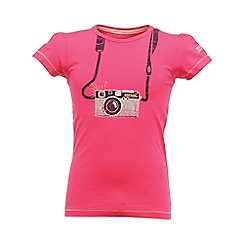 Regatta - Pink girls bugle t shirt