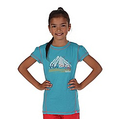 Regatta - Girls Light blue motion quick drying t-shirt