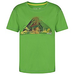 Regatta - Boys Green alvarado printed t-shirt