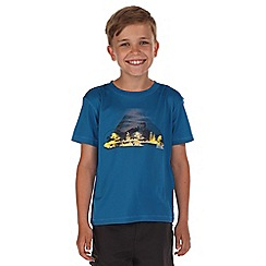 Regatta - Boys Teal alvarado printed t-shirt