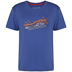 Regatta - Girls Blue alvarado printed t-shirt