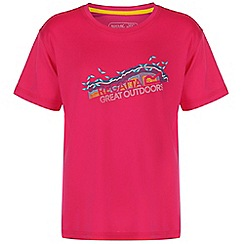 Regatta - Girls Pink alvarado printed t-shirt