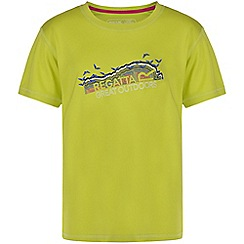 Regatta - Girls Lime green alvarado printed t-shirt