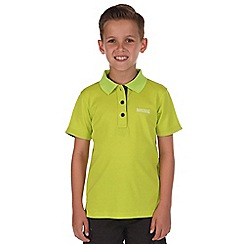 Regatta - Boys Lime green elver polo shirt