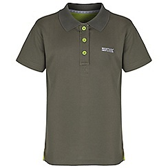 Regatta - Boys Dark green elver polo shirt