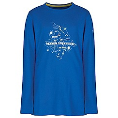 Regatta - Kids Blue Wilder long sleeved t-shirt