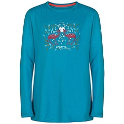Regatta - Kids Aqua Wilder long sleeved t-shirt