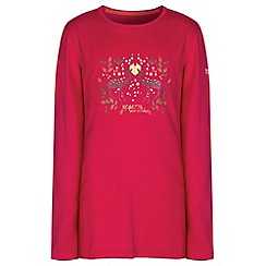 Regatta - Kids Pink Wilder long sleeved t-shirt