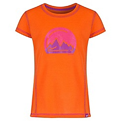 Regatta - Girls' orange motion print t-shirt
