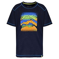 Regatta - Boys' navy motion print t-shirt