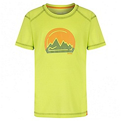 Regatta - Kids' green motion print t-shirt