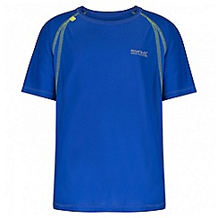 Regatta - Boys' blue diverge reflective trim t-shirt