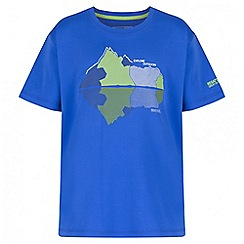 Regatta - Boys' blue alvarado print t-shirt