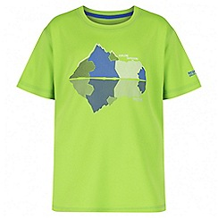 Regatta - Boys' green alvarado print t-shirt