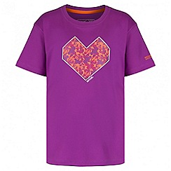 Regatta - Girls' purple alvarado print t-shirt