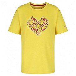 Regatta - Girls' yellow alvarado print t-shirt