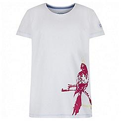 Regatta - Girls' white / pink bobbles print t-shirt