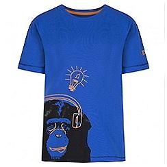 Regatta - Boys' blue bobbles print t-shirt