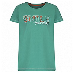 Regatta - Girls' mint green Bobbles print t-shirt