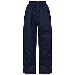 Regatta - Kids Navy Chandler waterproof over trousers