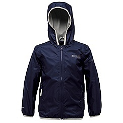 Regatta - Navy kids lever waterproof jacket
