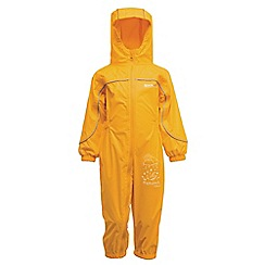 Regatta - Old gold puddle iii waterproof onesie